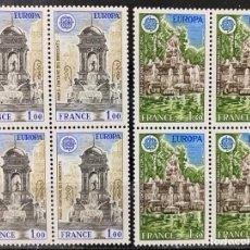 Sellos: FRANCIA, 1978. YVERT 2008/09. TEMA EUROPA. SERIE COMPLETA. NUEVOS. SIN FIJASELLOS.BLOQUE DE 4. Lote 269033689