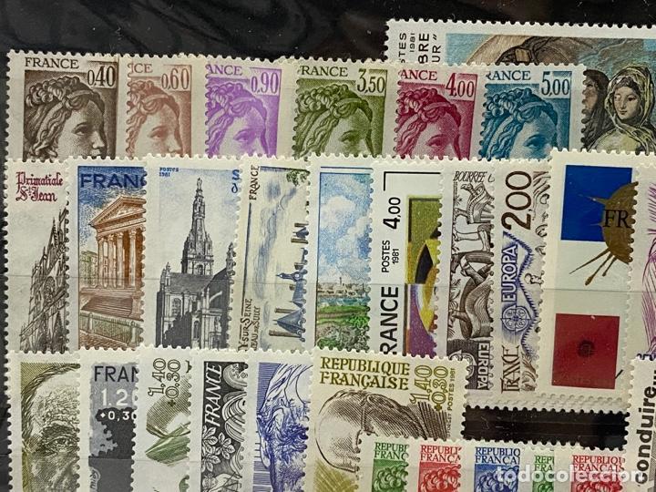Sellos: FRANCIA. AÑO 1981 COMPLETO. YVERT Nº 2118/2177. VER FOTOS - Foto 2 - 272861098