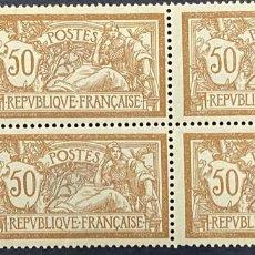 Sellos: FRANCIA, 1923. YVERT 199. REPUBLICA FRANCESA. BLOQUE DE 4. NUEVO. CON CHARNELA. Lote 273617498