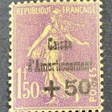 Sellos: FRANCIA, 1930. YVERT 268. CAISSE D'AMORTISSEMENT. NUEVO. CON CHARNELA. Lote 273937998