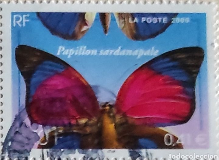 Sellos: Papillon sardanapale, Mariposa Sardanapalus, Yvert 3332 y tipo Marianne 14 julio, Yvert 3387 y 3390 - Foto 2 - 277101678