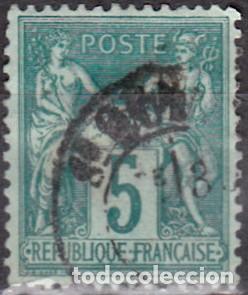 1876 - 1878 - FRANCIA - GRUPO ALEGORICO PAZ Y COMERCIO - YVERT 64 (Sellos - Extranjero - Europa - Francia)