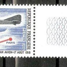Sellos: FRANCIA. 1968. YT 1565. AVIONES. MNH. Lote 277228548