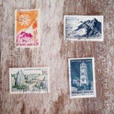 Sellos: 6 SELLOS USADOS FRANCIA - PAISAJES, MONUMENTOS, MONTAÑA. Lote 277626733