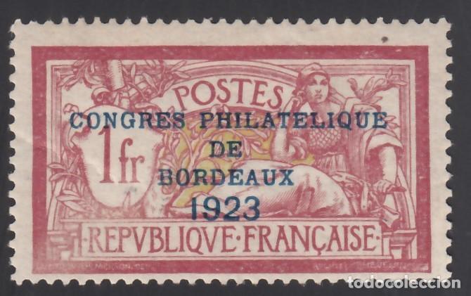 FRANCIA. 1923 YVERT Nº 182 /*/, CONGRESO FILATÉLICO DE BORDEAUX. (Sellos - Extranjero - Europa - Francia)
