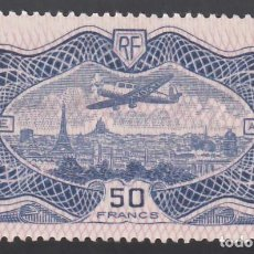 Sellos: FRANCIA. AÉREO. 1936 YVERT Nº 15 /*/, AVIÓN SOBREVOLANDO PARIS.. Lote 286066693
