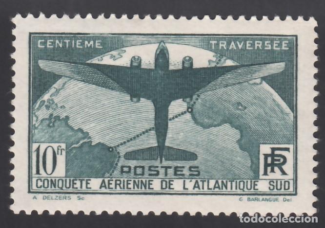 FRANCIA. 1936 YVERT Nº 321 /*/, TRAVESÍA AÉREA DEL ATLÁNTICO SUR. (Sellos - Extranjero - Europa - Francia)