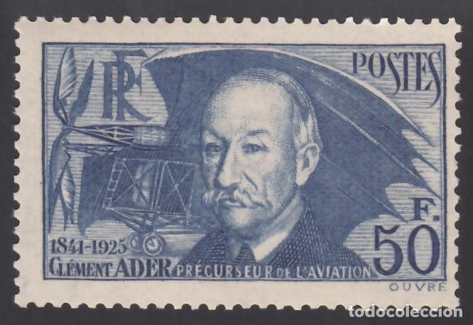 FRANCIA. 1938 YVERT Nº 398 /*/, CLÉMENT ADER, PIONERO DE LA AVIACIÓN. (Sellos - Extranjero - Europa - Francia)