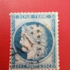 Sellos: SELLO FRANCIA,1871,25 C, DENTADO,(VER FOTO), MATASELLADO.. Lote 286535618