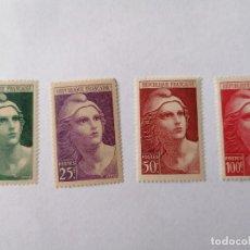 Sellos: SELLOS FRANCIA,1945,SERIE COMPLETA 4 UNID. NUEVOS **, DE LUJO.. Lote 286539843
