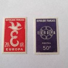 Sellos: SELLOS FRANCIA,1958,SERIE COMPLETA 2 UNID. NUEVOS **, DE LUJO.. Lote 286540588