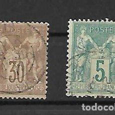 Sellos: ALEGORÍA (TIPO ALPHÉE DUBOIS). FANCIA- SELLOS AÑO 1881. Lote 288153243