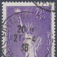 Sellos: FRANCIA. YVERT 309. A BENEFICIO DE REFUGIADOS POLÍTICOS 1936. VALOR CATÁLOGO: 11 €.. Lote 288346448