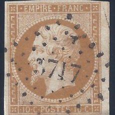 Sellos: FRANCIA. YVERT 13B. NAPOLEÓN III 1860. SIN DENTAR. VALOR CATÁLOGO: 30 €.. Lote 288352468
