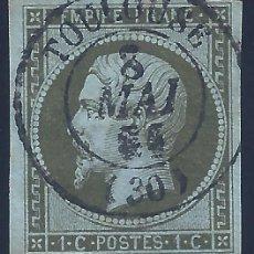 Sellos: FRANCIA. YVERT 11. NAPOLEÓN III 1860. SIN DENTAR. VALOR CATÁLOGO: 100 €.. Lote 288352678