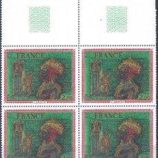 Sellos: FRANCIA 1976. YVERT 1900. OEUVRE, DE CARZOU (BLOQUE DE 4). MNH **. Lote 288444583