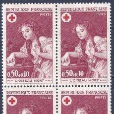 Sellos: FRANCIA 1971. YVERT 1701. L'OISEAU MORT (BLOQUE DE 4). MNH **. Lote 288449368