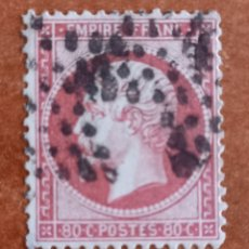 Sellos: FRANCIA N°24 AÑO 1862 USADO (FOTOGRAFÍA REAL). Lote 289321088