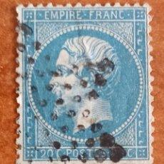 Sellos: FRANCIA N°22 AÑO 1862 USADO (FOTOGRAFÍA REAL). Lote 289322173