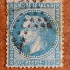Sellos: FRANCIA N°29 AÑO 1863 USADO (FOTOGRAFÍA REAL). Lote 289323763
