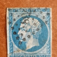 Sellos: FRANCIA N°14 AÑO 1853 USADO (FOTOGRAFÍA REAL). Lote 289324653