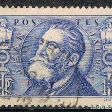 Sellos: [C0550] FRANCIA 1936, EN MEMORIA DE JEAN JAURÉS, 1,50 FR. (U). Lote 289480153
