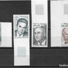 Sellos: FRANCIA 1974, SERIE IVERT 1824/27 SIN DENTAR CON BORDE DE HOJA. MNH.. Lote 289684918