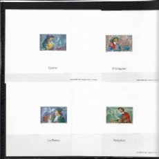Sellos: FRANCIA 1997, SERIE 3115/20 MÁS EL CARNET MÁS LAS SEIS PRUEBAS DE LUJO. MNH.. Lote 289687428