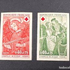 Sellos: FRANCIA, 1970. YVERT 130/33. CRUZ ROJA. SERIE COMPLETA. NUEVO. SIN FIJASELLOS. SIN DENTAR.. Lote 289826018