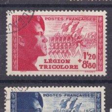Sellos: FC3-170-FRANCIA LEGIÓN TRICOLOR YT 565/66 USADOS LUJO. Lote 293833653