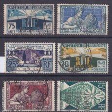 Sellos: FC3-226- FRANCIA EXPOSICIÓN NACIONAL ARTES DECORATIVAS YT 210/15 USADOS. Lote 293833938