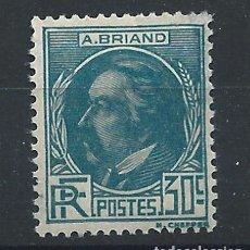 """Sellos: FRANCE N°291* (MH) 1933 - CÉLÉBRITÉ """"A. BRIAND"""". Lote 297149973"""
