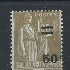 Sellos: FRANCE N°298* (MH) 1934 - TYPE PAIX SURCHARGÉ. Lote 297150743