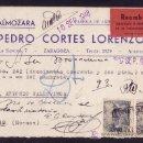Sellos: ESPAÑA.(CAT. 927).1948. T. P. CERTIF. REEMBOLSO DE ZARAGOZA.CORREO DEVUELTO. MUY INTERESANTE Y RARA.. Lote 24114279