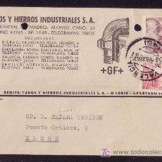 Sellos: ESPAÑA.(CAT.917,923).1948.T.P.PUBLICIDAD DE VALENCIA.10 C. CID Y 25 C. FRANCO. MAT. VALENCIA.MUY BTA. Lote 23455151