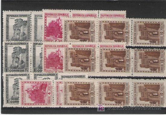 GRAN LOTE DE SELLOS DE PRIMER CENTENARIO ALTO VALOR DE CATALOGO 673/75 (Sellos - España - Estado Español - De 1.936 a 1.949 - Usados)