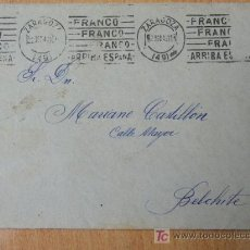 Sellos: + MATASELLOS ZARAGOZA 1942 FRANCO FRANCO FRANCO ARRIBA ESPAÑA SIN SELLO .. Lote 25732617