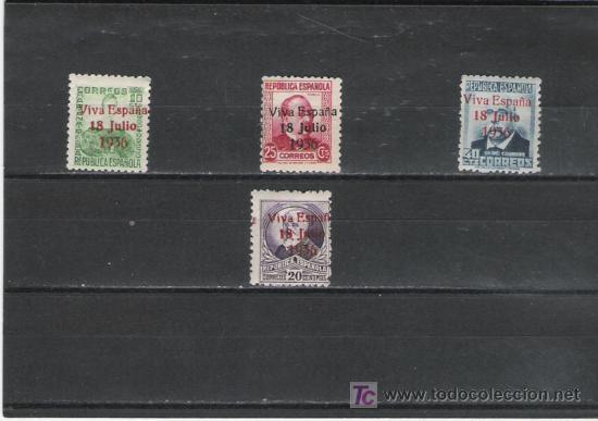 SERIE DE LA REPUBLICA SOBRE CARGADA CON VIVA ESPAÑA 18 JULIO 1936 CON MARQUILLA (Sellos - España - Estado Español - De 1.936 a 1.949 - Cartas)