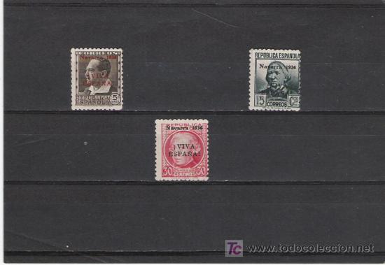 SERIE DE LA REPUBLICA SOBRE CARGADA CON NAVARRA 1936 VIVA ESPAÑA (Sellos - España - Estado Español - De 1.936 a 1.949 - Cartas)