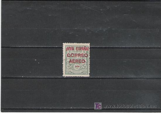ESTUPENDA PIEZA TIMBRE SOBRECARGADO VIVA ESPAÑA CORREO AEREO (Sellos - España - Estado Español - De 1.936 a 1.949 - Usados)