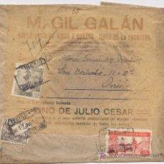 Sellos: SOBRE CERTIFICADO DE JEREZ DE LA FRONTERA A OVIEDO DEL EXPORTADOR DE VINOS Y COÑACS M. GIL GALÁN ). Lote 27121069