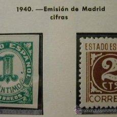 Sellos: ESPAÑA 1940 CIFRAS 2 SELLOS EDIFIL Nº 914 Y 915. Lote 18584357