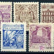 Sellos: 974/82* - MILENARIO DE CASTILLA 1944 (NUEVO CON CHARNELA). Lote 13356475