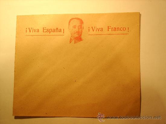 SOBRE , VIVA ESPAÑA , VIVA FRANCO , AÑOS 1936-39 (Sellos - España - Estado Español - De 1.936 a 1.949 - Cartas)