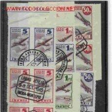 Sellos: VIÑETAS CIRCULADAS DE IBERIA EN BLOQUE DE CUATRO DE 1945 . Lote 16088829