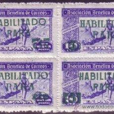 Briefmarken - ESPAÑA.BENEFICENCIA. (Cat. 110, 111).** 5 Cts. s. 10 Cts. TIPO I Y II. BLOQUE DE 4. LUJO. - 25598544