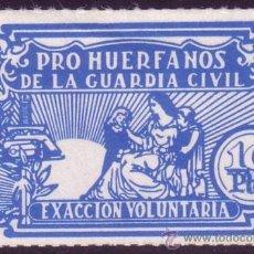 Sellos: ESPAÑA. VIÑETA. (*) 10 PTAS. *PRO HUÉRFANOS DE LA GUARDIA CIVIL/EXACCIÓN VOLUNTARIA*. BONITA Y RARA.. Lote 23257539