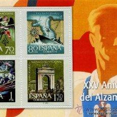 Sellos: REPRODUCCIONES AUTORIZADAS POR CORREOS DE 4 SELLOS DEL ( XXV ANIVERSARIO DEL ALZAMIENTO) . Lote 10607172