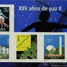 Sellos: REPRODUCCIONES AUTORIZADAS POR CORREOS DE 4 SELLOS DEL ( XXV AÑOS DE PAZ II ) . Lote 23953793