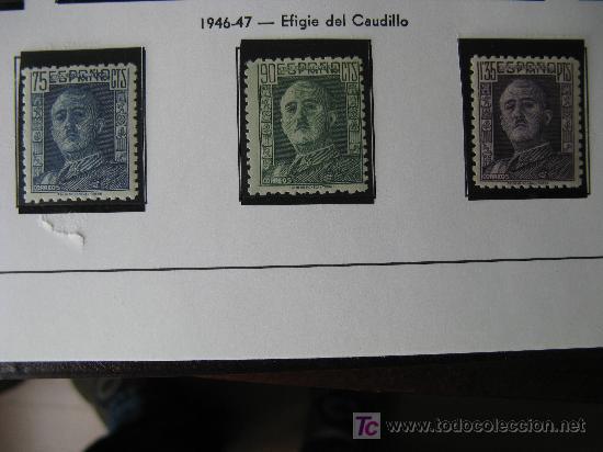 1946/7 GENERAL FRANCO EDIFIL 999/1001 (Sellos - España - Estado Español - De 1.936 a 1.949 - Nuevos)
